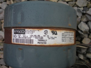 Label on original blower motor.