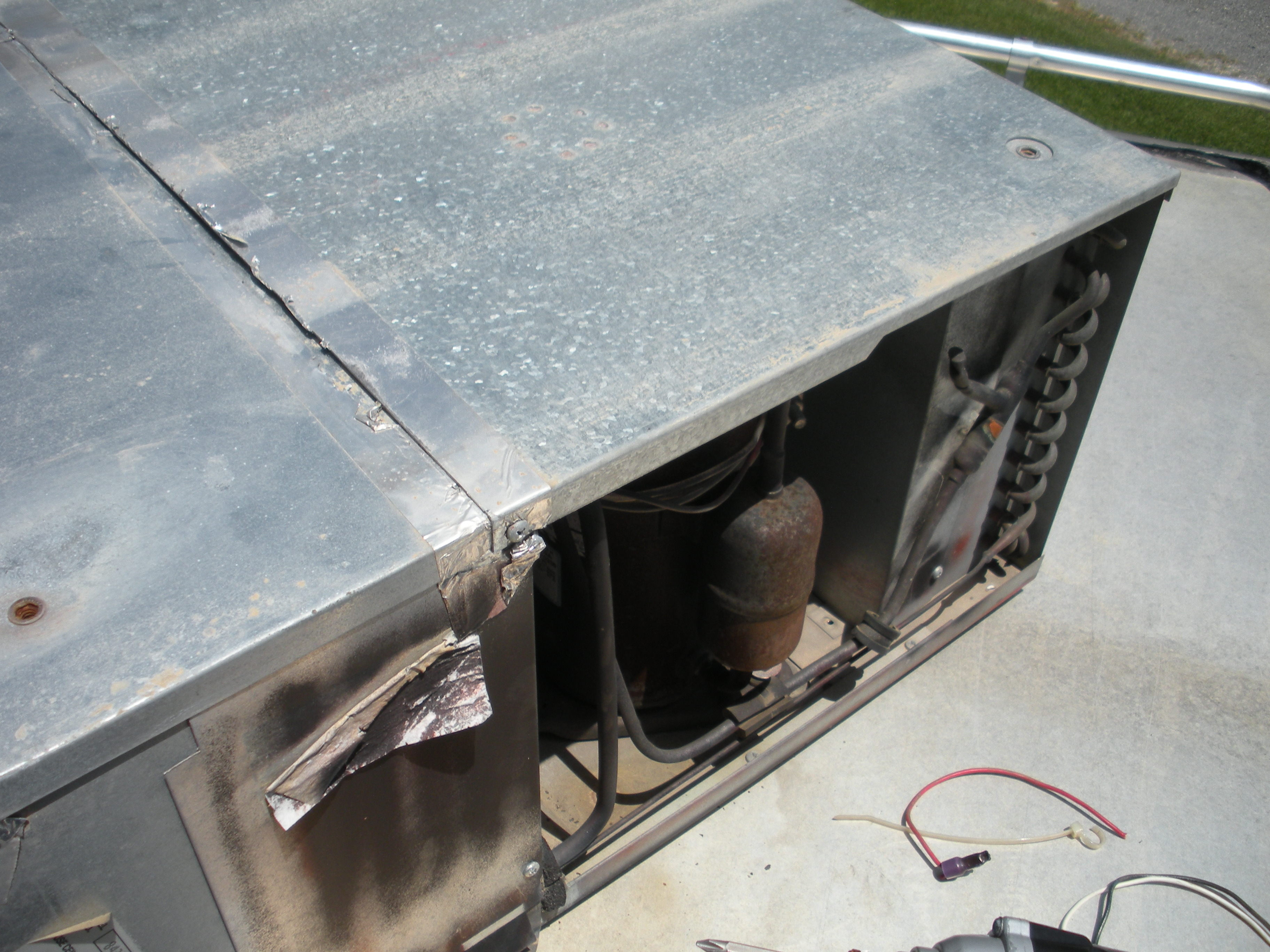 Howto Coleman Mach Rvp Blower And Condenser Fan Motor Replacement Rv 3 Wiring Panel Over Compressor Electrical Access Cover Will Need To Be Removed