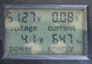 Energy Monitor after 9 holes on lead acid batteries.
