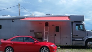 New awning material installed