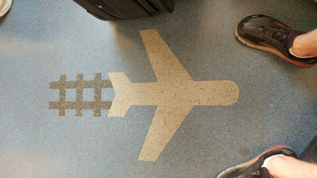 Floor on the JFK AirTrain